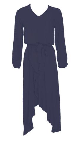 20to Dress Ruffles Navy