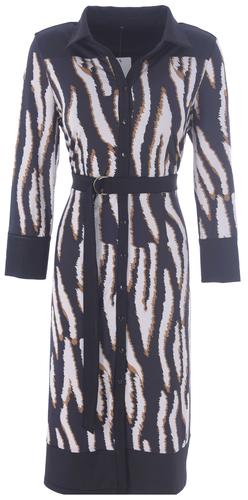 K-Design Maxi jurk R822 met gestreepte print en riem