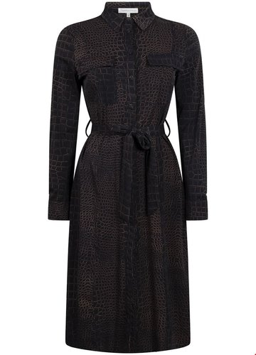 Tramontana Dress Travel Croco Print