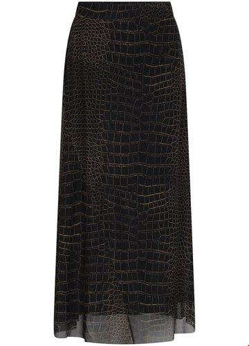 Tramontana Skirt Midi Mesh Croco Print