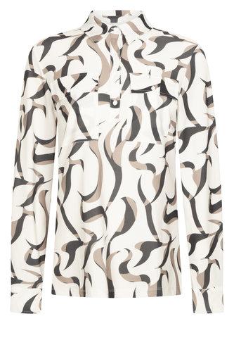 Zoso  Judith Off White Splendour printed blouse