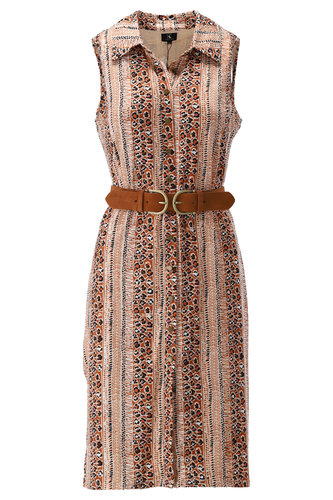 K-Design Mouwloze jurk met streep motief