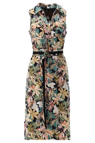 K-Design Midi jurk tropische bloemenprint