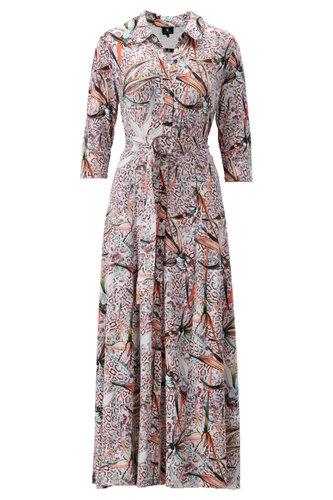 K-Design Maxi jurk met licht roze print S215-P137