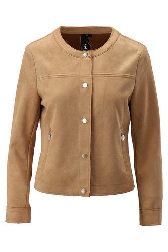 K-Design Vest met ronde hals Soft Camel