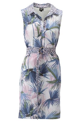 K-Design Mouwloze jurk met luipaard motief