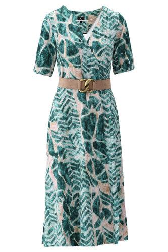 K-Design Midi jurk met blauwe print