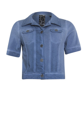 Poools Jacket short sleeve blue shadow