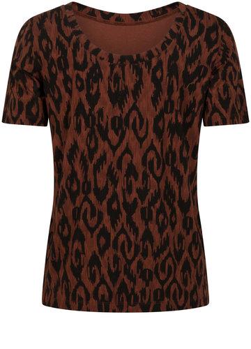 Tramontana T-Shirt Reversible Ikat Print