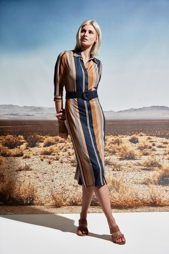 K-Design Maxi jurk streep motief