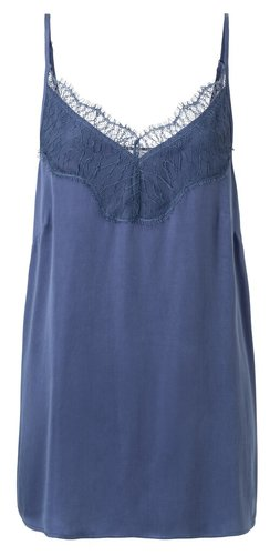 Yaya Cupro blend strap singlet with lace