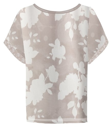 Yaya Satin top with floral print