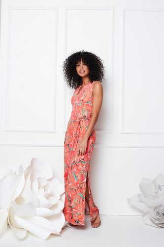 K-Design Maxi jurk, mouwloos met split
