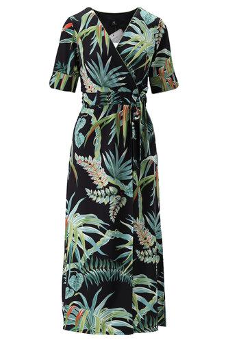 K-Design Maxi jurk met overslag S894-P126