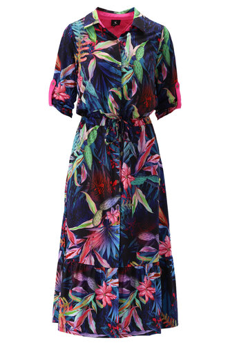 K-Design Maxi jurk met fleurige print