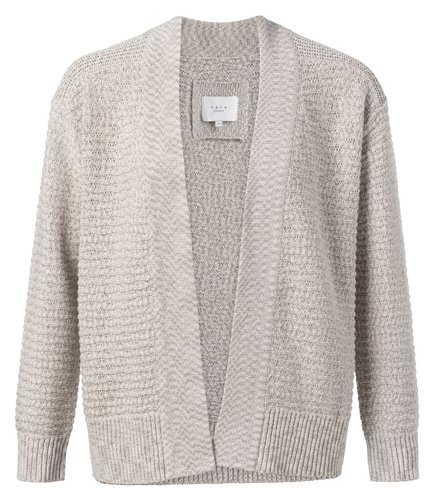 Yaya Cotton structure knitted cardigan
