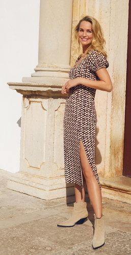 Tramontana Dress Color Blocks Print