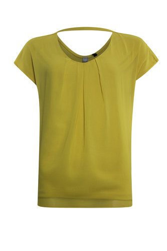 Poools T-shirt effe gele top 023109-S36