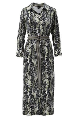 K-Design Maxi jurk met riem met slangenprint