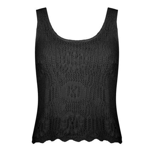 Esqualo Singlet crochet zwart
