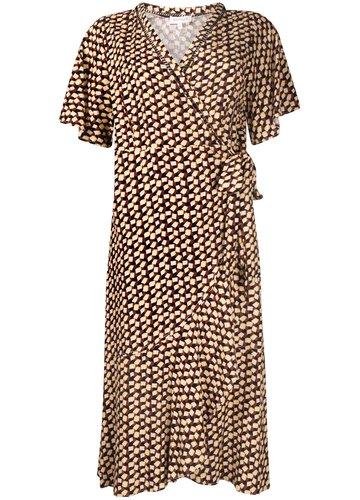 Tramontana Dress Volants Blocks Print