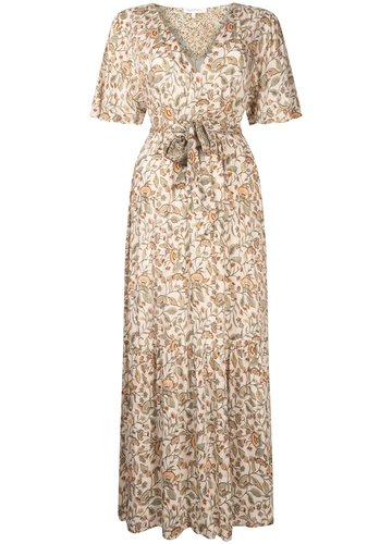 Tramontana Dress Maxi Flower Print Mix