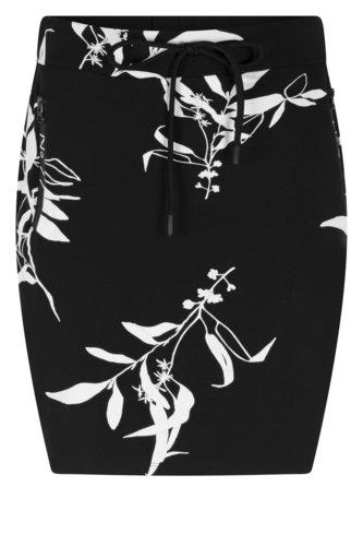 Zoso Steffie Allover printed sweat skirt navy