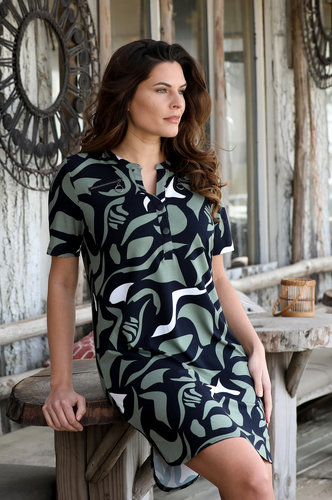 Zoso Astrid Allover printed tunic/dress multi