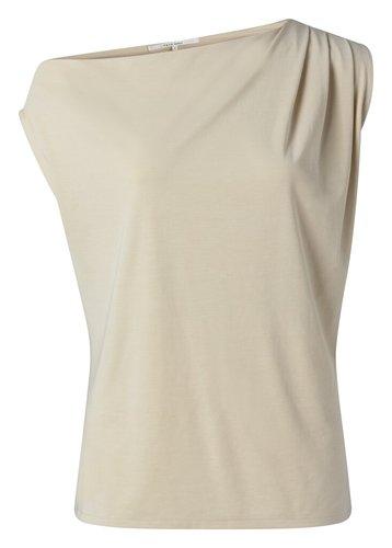 Yaya Asymmetric top with pleats at shoulder