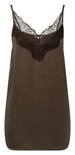 Yaya Strappy top with lace detail in cupro blend