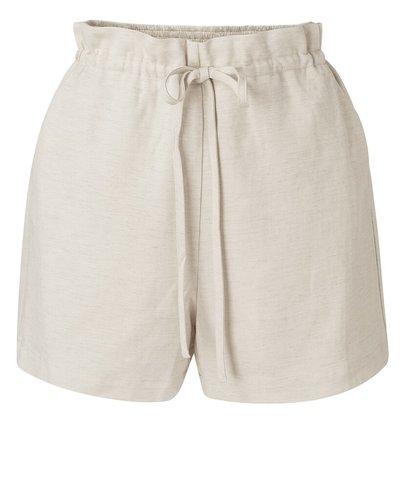 Yaya Linen mix short with elastic waistband