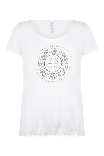 Zoso Daisy White T shirt with print