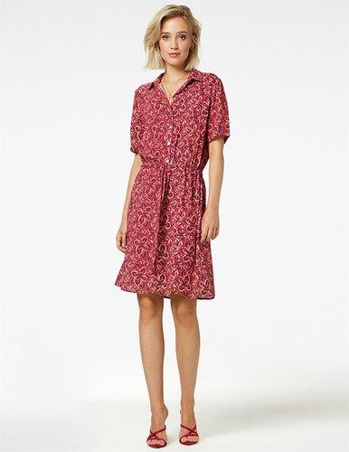 Freebird Suzy Mini dress short sleeve pink