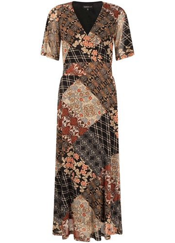 Tramontana Dress Midi Mesh Quilty Print