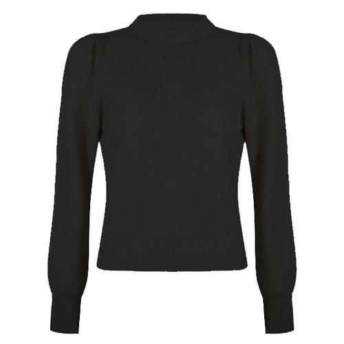Esqualo Sweater gathering slv Black