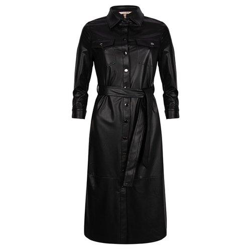 Esqualo Dress long light PU Black