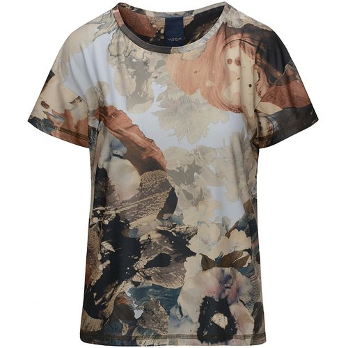 One Two Luxzuz Carin T-Shirt Camel