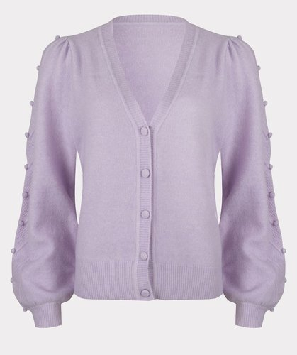 Esqualo Cardigan sleeve dots Lilac