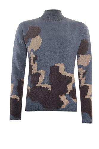 Poools  Sweater Big Spots Blue Stone