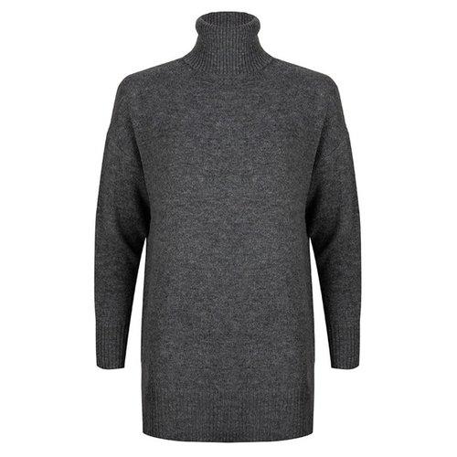 Esqualo Sweater long oversized col Dark Grey