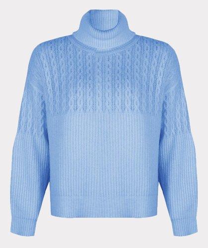 Esqualo Sweater cable col Azure Blue