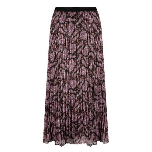 Esqualo Skirt plisse Purple paisley Print
