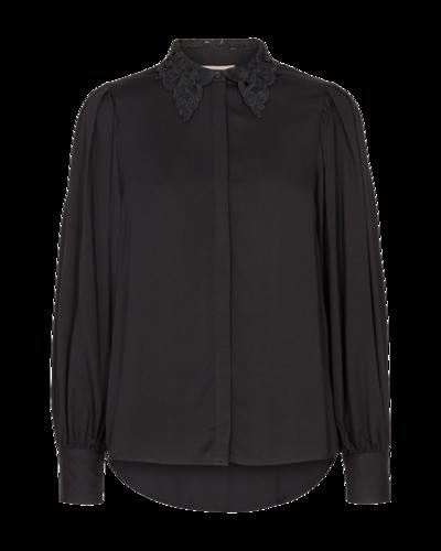 FREEQUENT FQULVA-SH viscose blouse zwart