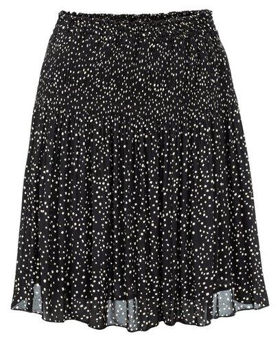 Yaya Printed mini skirt with plisse effect