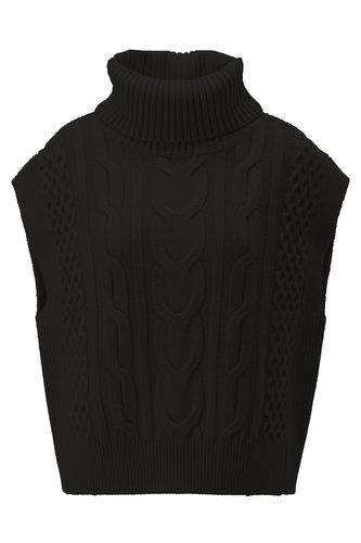K-Design Pullover met rolkraag zwart T500