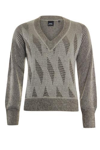 Poools  Sweater 2 kleuren deep taupe