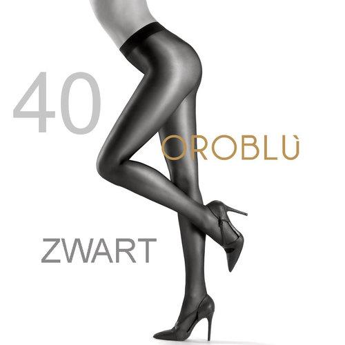 Oroblu Maggie 40 den Black Satin Tights