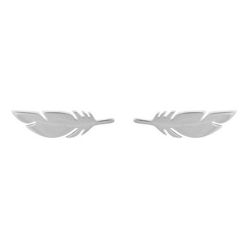 ZAG veer oorbellen zilver kleurig