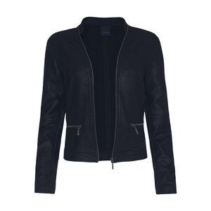 One Two Luxzuz Blauw Maise suède coated jacket