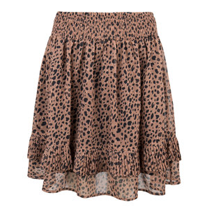 Esqualo Skirt leopard lurex Brown W19.32702